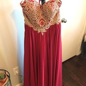 Cardinal Bridesmaid dress/Prom dress